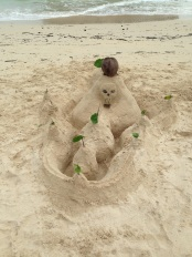 amazing sand castle made by a father and son team on Phranang beach