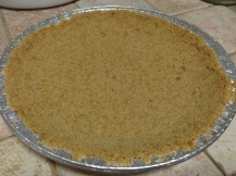Baked biscuit crust
