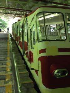 Up to Koyasan we go on the cablecar!