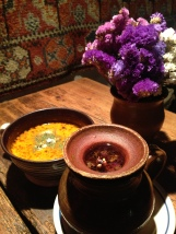 Soups at The Two Marys, really welcome on a cold night