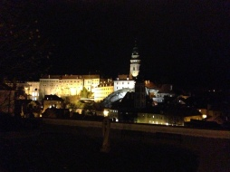 Night view of the town