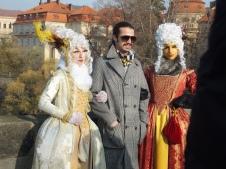 Costumers on Charles Bridge