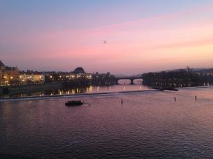 Charles Bridge at sunset, love the sky