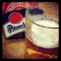 My last glass of Pilsner in Czech :(