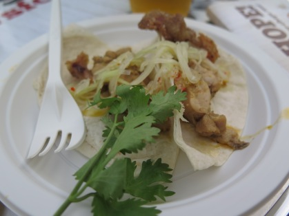 Chicken Inasal Taco with Fried Chicken Skin from East Side King - an explosion of flavours, delicious