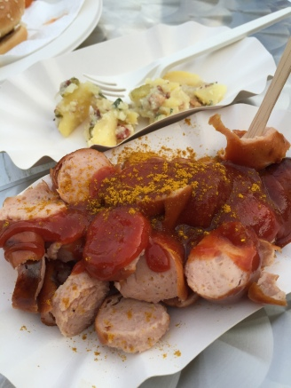 Currywurst from Bratworks - nice, but the accompanying potato salad was better